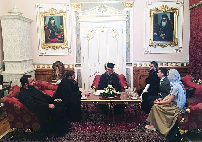 На встрече с епископом Баня-Лукским Ефремом