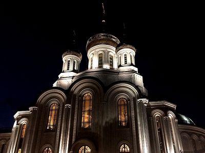 Всенощное бдение в Сретенском монастыре накануне Воздвижения Честного и Животворящего Креста Господня.