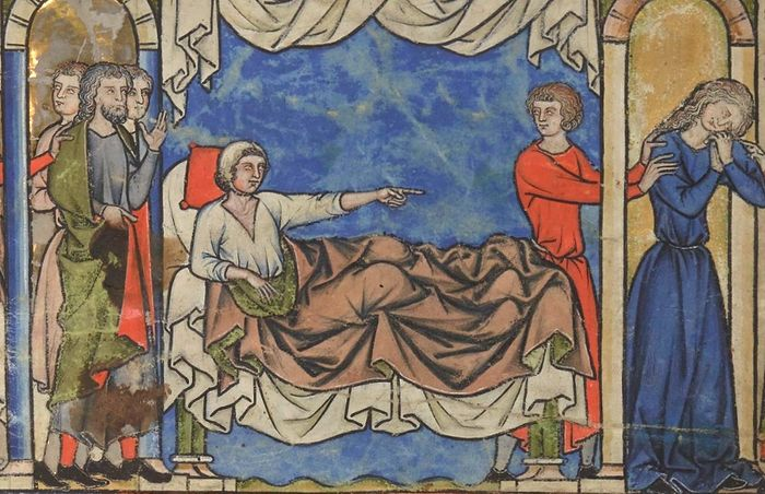 Амнон прогоняет Фамарь