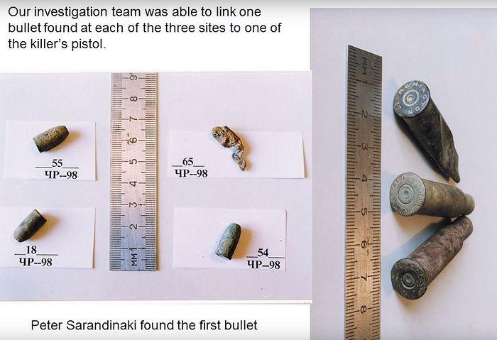 Пуля от нагана, найденная Сарандинаки
