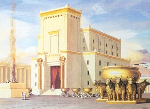 Artist's interpretation of the First Temple in Jerusalem. Photo: Wikipedia