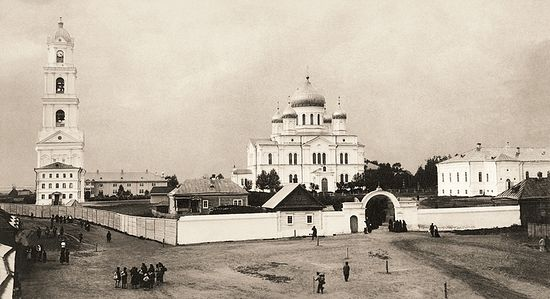 View of Diveyevo Monastery from the south. 1903