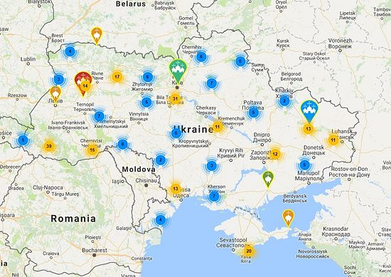 Ukrainian Church publishes interactive map of 300 monasteries