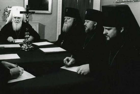 В митрополии на Пушкинской, 36. 1990 г. Крайний справа – епископ Ионафан