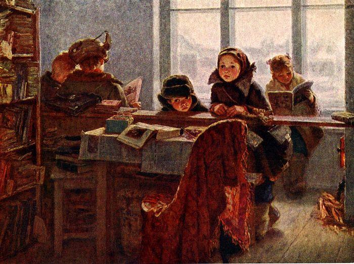 «В сельской библиотеке». Ирина Шевандронова