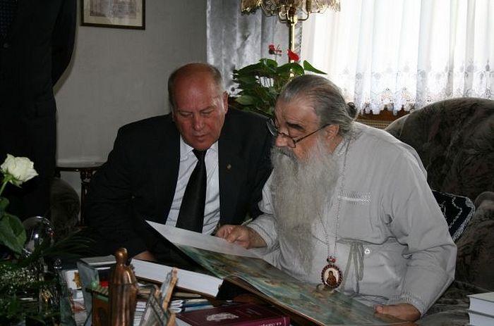 К.Скворцов и патриарший экзарх всея Белоруссии митрополит Филарет, 2009 год