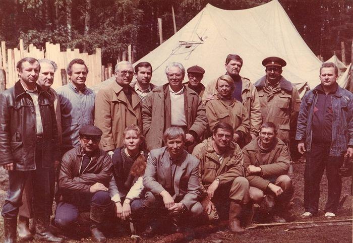 Участники эксгумации останков царской семьи 11-13.07.1991 г.