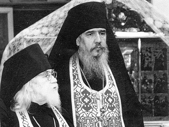 Archimandrite John (Krestiankin) with Archimandrite Antony