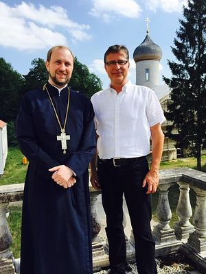 A member of the Bundestag Jens Köppen (CDU) visits the St. George's Monastery.