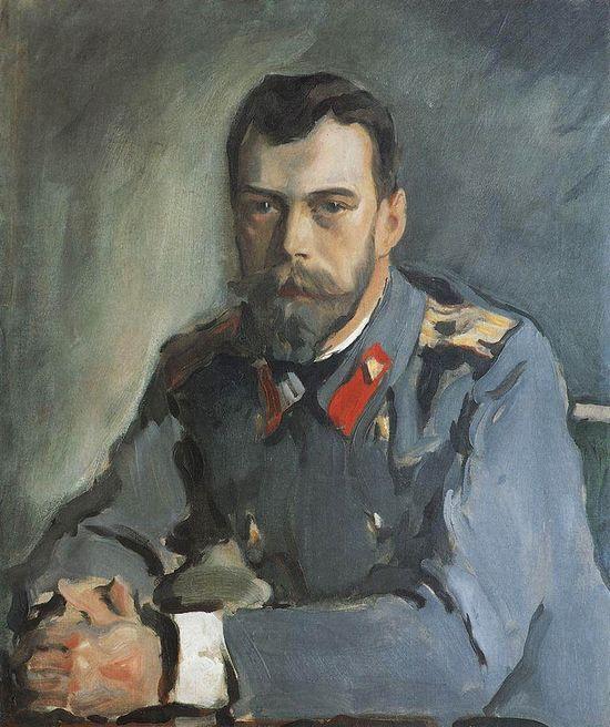 Portrait of Emperor Nicholas II. V.Serov, 1900