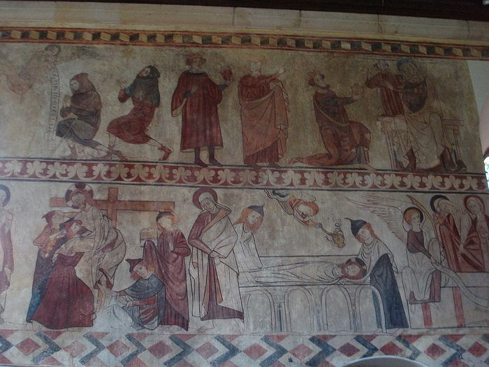 Fresco at St. Agatha's Church in Easby, North Yorkshire