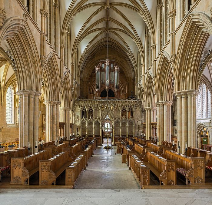 The pulpitum and choir of Southwell Minster, Notts