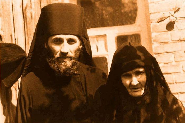 С мамой монахиней Верой