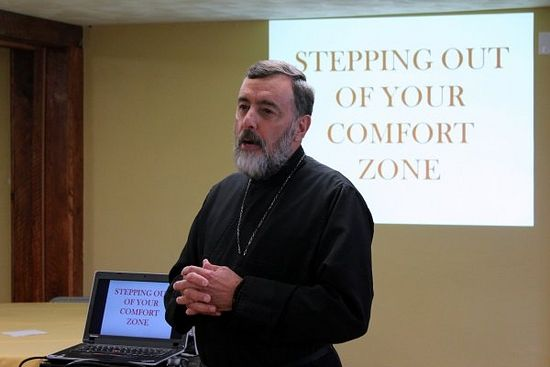 Fr. Stephen Powley speaks on the Importance of Prison Ministry. Photo: stots.edu