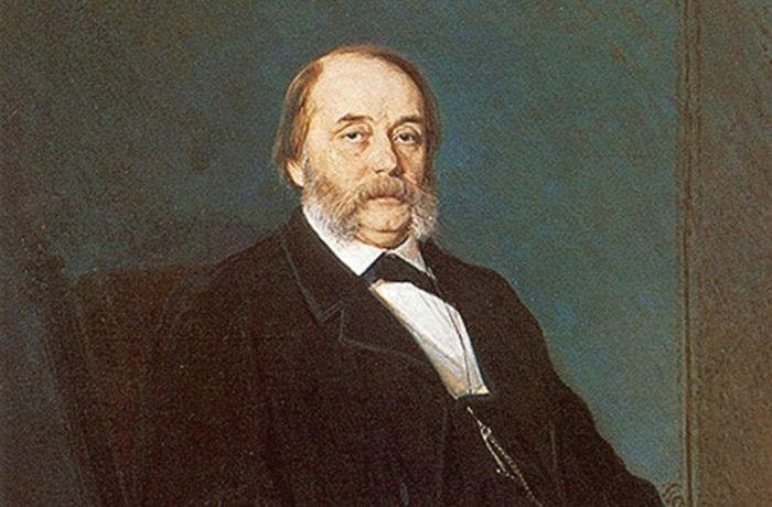 Портрет Ивана Гончарова работы художника И.Крамского