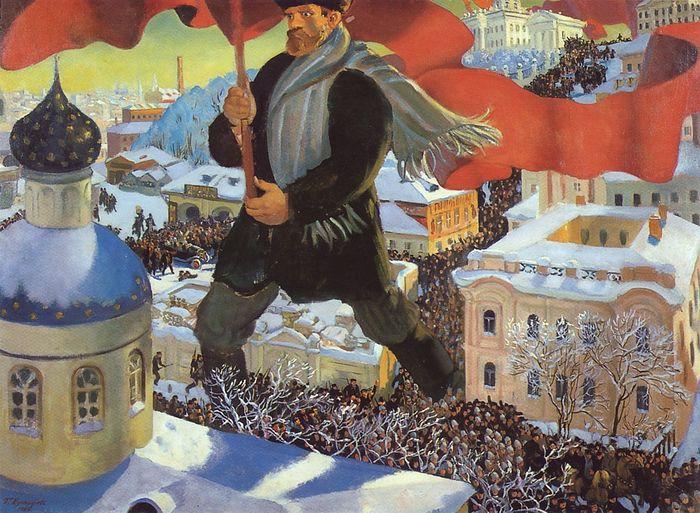 Борис Кустодиев. «Большевик»