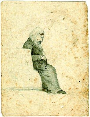 St. Zosima (Verkhovsky), drawing, 1820s-30s. From Widipedia.