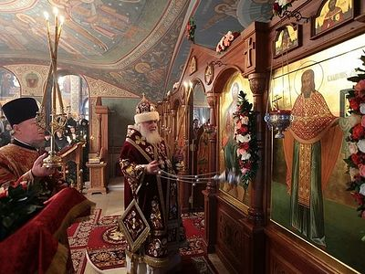 В Зачатьевском монастыре молитвенно почтили память сщмч. Владимира Амбарцумова