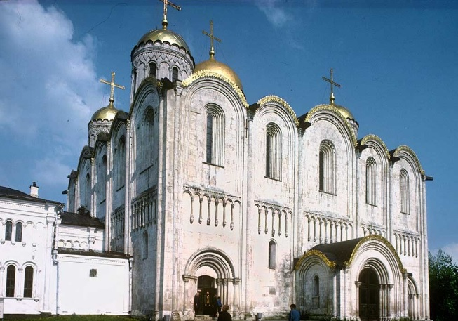 Vladimir. Cathedral of the Dormition of the Mother of God. Northwest view. May 16, 1995. William Brumfield