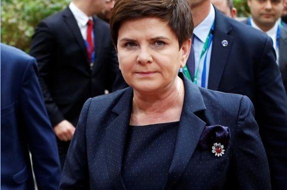 Poland's Prime Minister Beata Szydlo arrives at the EU summit meeting in Brussels, Belgium, October 19, 2017. REUTERS/Dario Pignatelli