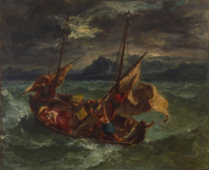 Christ on the Sea of Galilee, Eugène Delacroix. 1854. Photo: Wikipedia