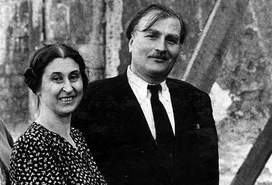 Первый директор Музея имени Андрея Рублева Д.И.Арсенишвили и первый научный сотрудник Музея Н.П. Дёмина