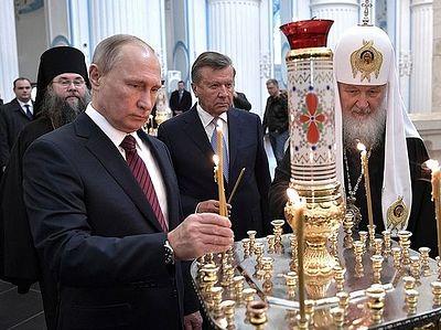 Владимир Путин посетил Воскресенский Ново-Иерусалимский монастырь