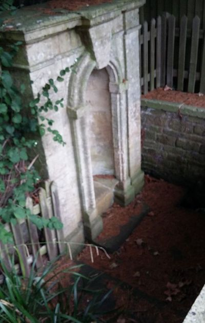 St. Rumvold's holy well near Kings Sutton, Northants (photo provided by the vicar of Kings Sutton)