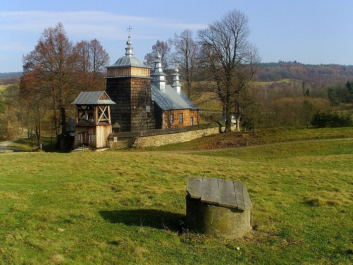 Fr. Maxim's old church near his village, Zdynia, Gorlice Country, Lesser Poland Voivodeship.
