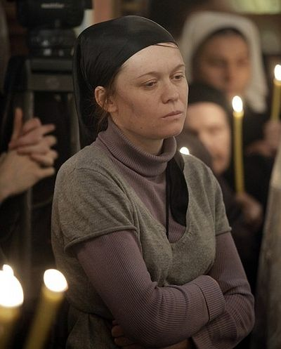 Julia Sysoeva at the funeral of Fr. Daniel. Photo patriarchia.ru
