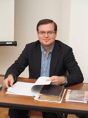 Евгений Владимирович Пчелов, кандидат исторических наук, доцент, заведующий кафедрой вспомогательных и специальных исторических дисциплин ИАИ РГГУ