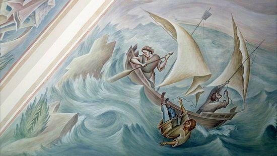 История о сыне императора Аркадии, выпавшем во время шторма с корабля
