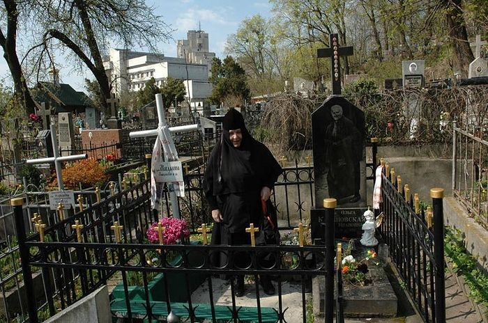 At the grave of Blessed Olga.