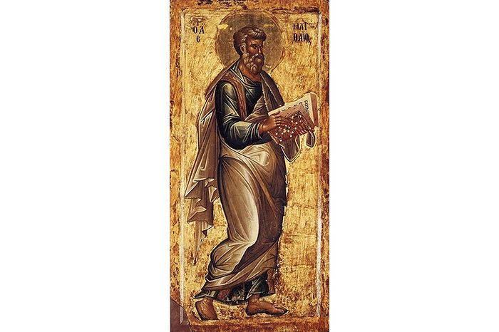 Евангелист Матфей, икона XIII века, Македония