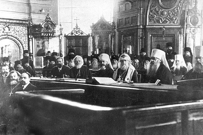 Существует всего лишь пять фотографий знаменитого поместного собора 1917-1918 годов. Это одна из них. Фото: Wikipedia.org