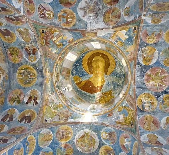Fresco by Dionysy, Ferapontov Monastery. Photo by William C. Brumfield. Rusroads.com