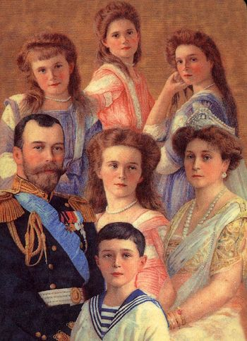 A portrait of the royal family by Olga Alexandrovna.
