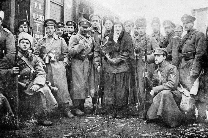 Пехотная рота Добровольческой армии, сформированная из гвардейских офицеров. Январь 1918.