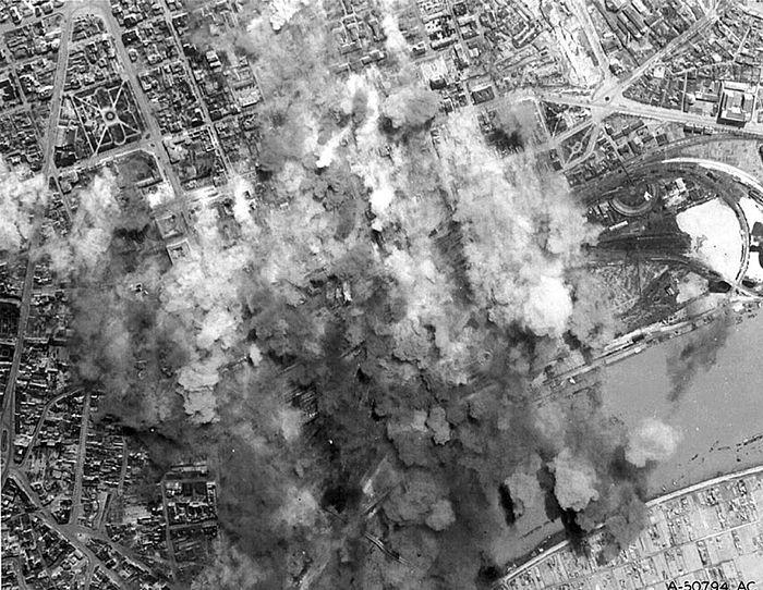 Бомбардировка Белграда войсками США. 17 апреля 1944 г.