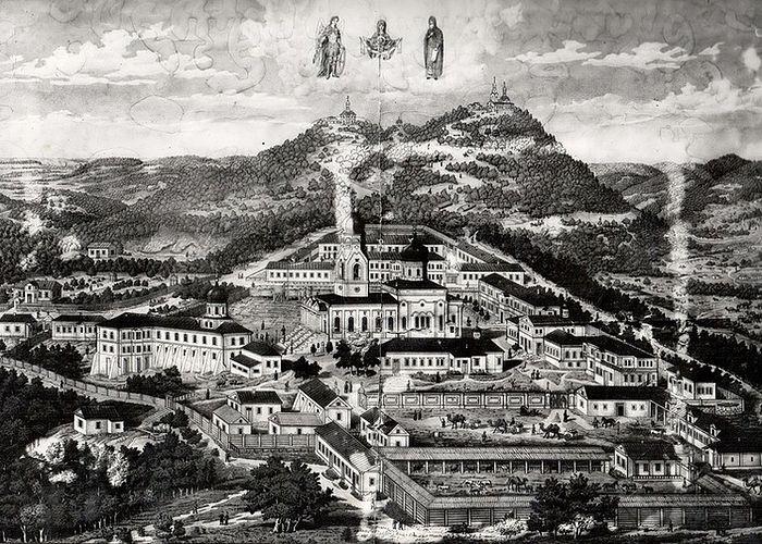 В конце XIX века монастырь был мощнейшим паломническим центром Северного Кавказа. Фото: Архив Свято-Михайло-Афонского монастыря
