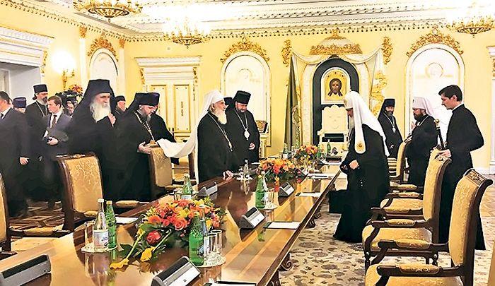 Двојица патријарха су разговарали и о радовима у Храму Светог Саве (Фото: Спутњик/ Оливера Икодиновић)