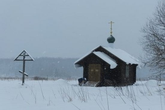 Часовня в честь преп.Серафима Саровского в Вахромеево. Фото Нины Бокаревой
