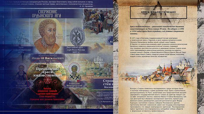 Ересь жидовствующих. Фрагмент экспозиции исторических парков «Россия – Моя история»