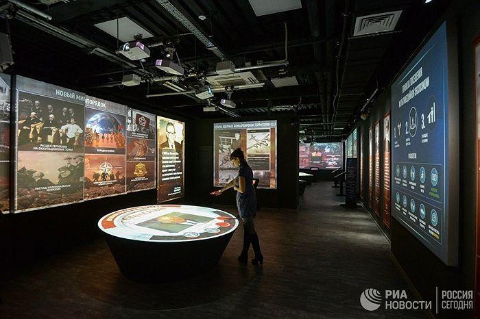 Открытие мультимедийного парка «Россия – моя история» в Новосибирске © РИА Новости / Александр Кряжев