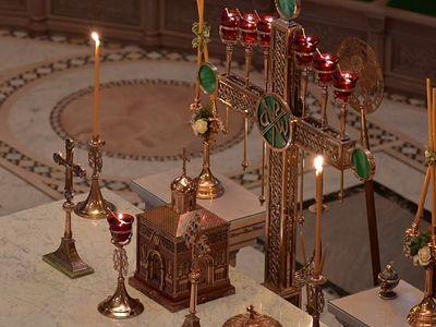 Божественная литургия в Сретенском монастыре в Неделю 28-ю по Пятидесятнице, в день памяти вмц. Варвары