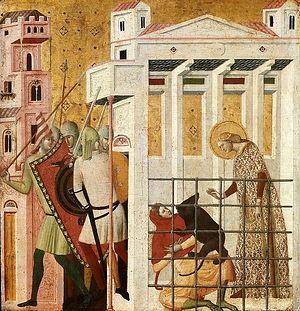 Спасение святой Коломбы Санской медведем_Джованни Баронцио