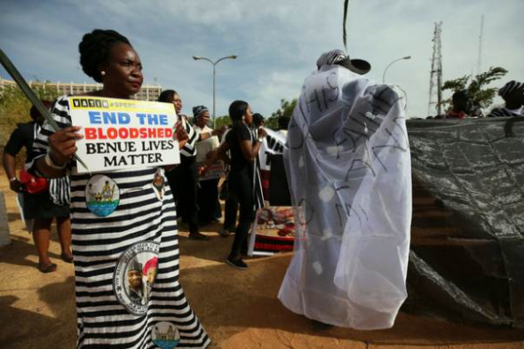 Protesters gather during a demonstration against Fulani herdsmen killings, in Abuja, Nigeria March 16, 2017. Photo: Reuters/Afolabi Sotunde