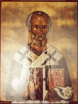 St Nicholas icon, one month after it began streaming myrrh. Photo: www.stnicholascenter.org