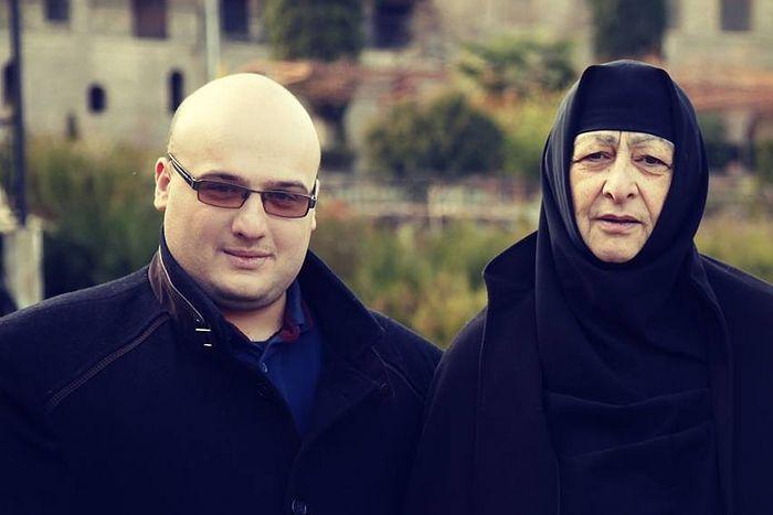 Abbess Seraphima (Chitanava) and Constantine Tsertsvadze.