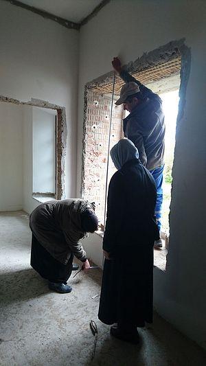 The restoration of the nuns' living quarters.
